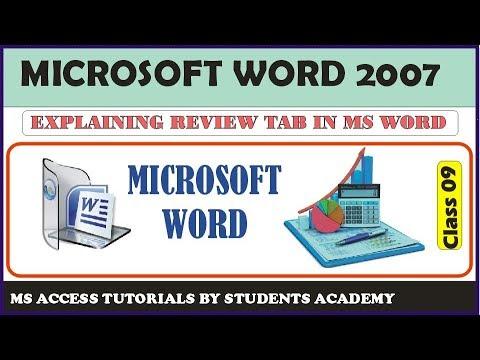 Microsoft Office Word 2007 full Course - Review Tab in Urdu/Hindi