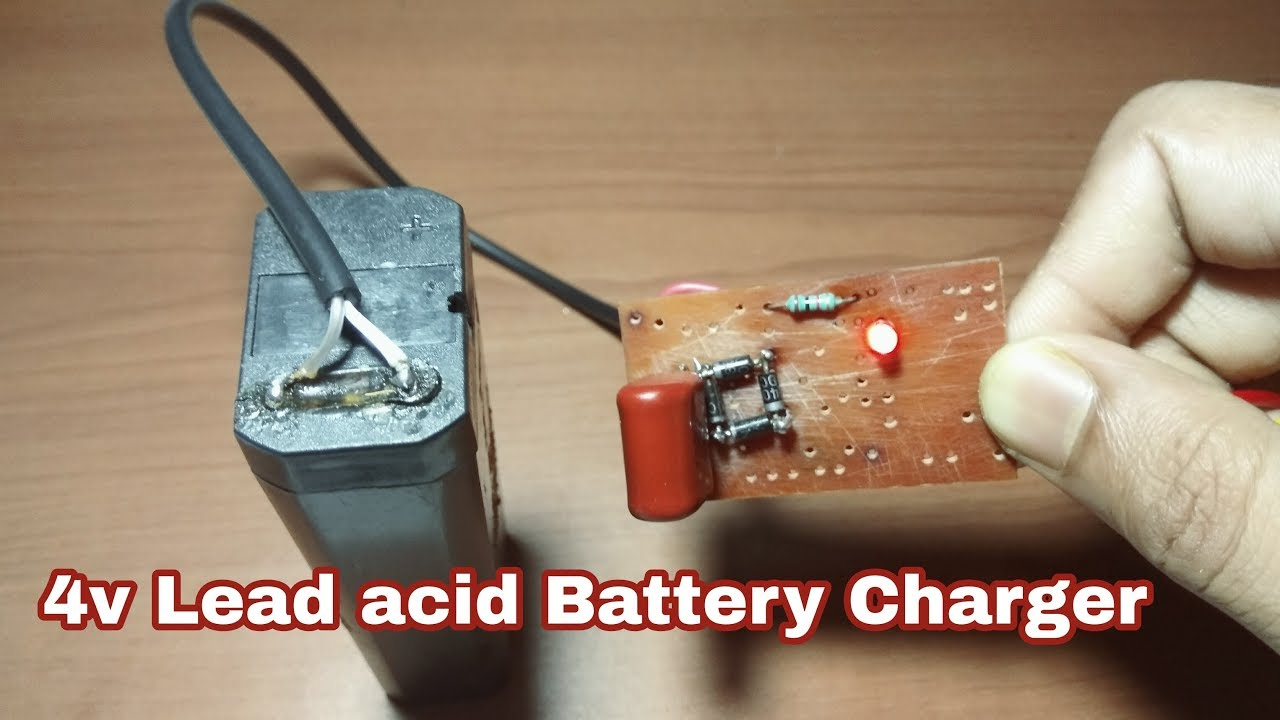 How To Make A 4v Lead Acid Battery Charger Youtube Batteries Leadacid Circuit Electrical Engineering
