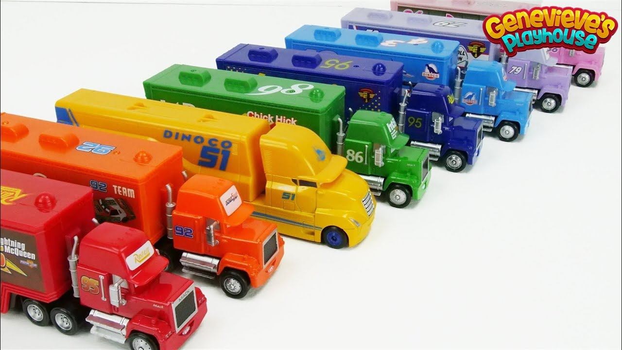 Best Toddler Learning Videos for Kids - Learn Colors with Trucks and Race Cars!