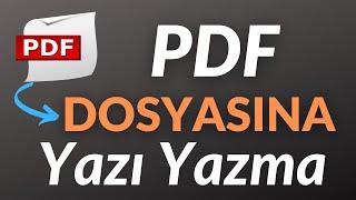 PDF Dosyasına Yazı Yazma - Not Alma.