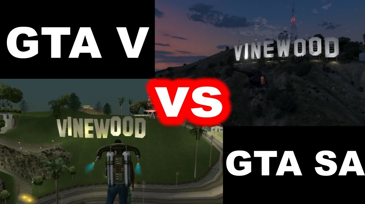 gta v vs gta san andreas comparison por wnanie youtube. Black Bedroom Furniture Sets. Home Design Ideas