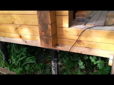 Видео Монтаж деревянных лаг фаза