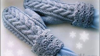 Вязание Варежек Спицами - видео 2019 / Knitting mittens spokes video /Knitting Fäustlinge Speichen