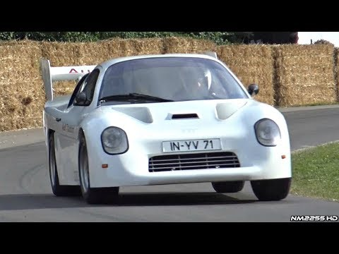 Audi Sport Quattro RS 002 Group S Prototype - 5 Cylinder Engine Sounds @ Goodwood!