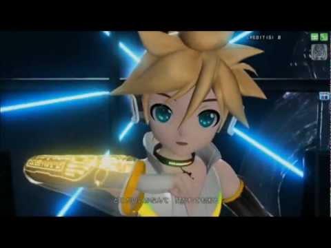 Kagamine len append power migikata no chou project diva arcade youtube - Kagamine rin project diva ...
