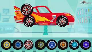 Dinosaur Cartoons - Car & Truck Driver  |  Cars : Lightning McQueen, Monster Truck - Videos for Kids