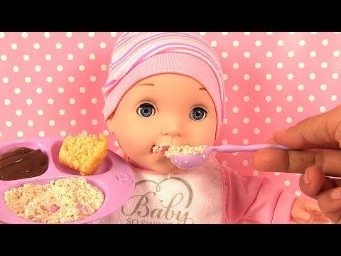 Poupon You & Me Accessoires Repas Bébé mange sa purée Jouets