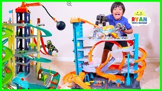 NEW Hot Wheels Ultimate Garage Playset with Shark + Ryan's Toy Cars Collections!!!!
