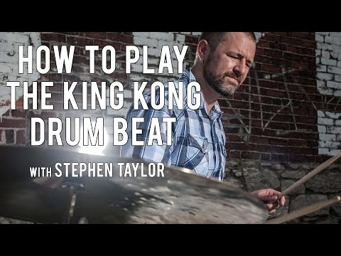 THE KING KONG DRUM BEAT (DRUM LESSON)