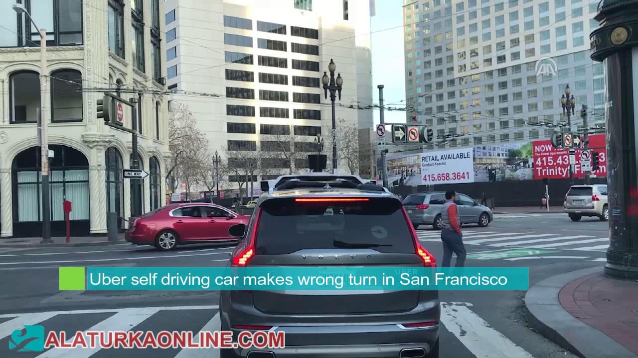 Download Uber self driving car makes wrong turn in San Francisco