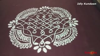 9-1 Dots Creative Kolam | Unique Sikku Kolam with 9-1 Dots | Melikala Muggulu With 9-1 Dots