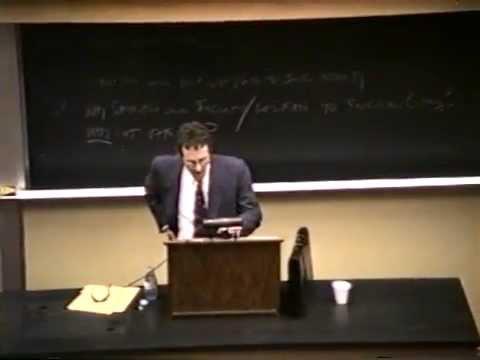 Jerry Weinberger at Kenyon College: Heidegger on Technology, 1994