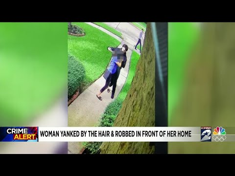 Woman Yanked By The Hair and Robbed Right in Front of Her Home