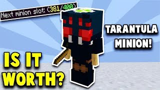 Is the new TARANTULA minion WORTH the GRIND? (Hypixel Skyblock)