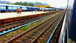 Train Entering Kamakhya Junction Railway Station - NFR Indian Railway