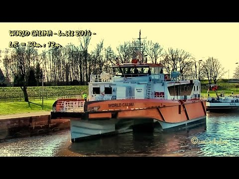 WORLD CALIMA ex WORLD BORA OWJX2 IMO 9684316 Emden sealock offshore crewboat seaship