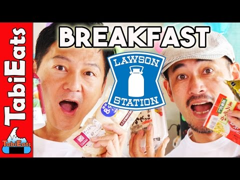 Breakfast from Japan's Lawson (Convenience Store Food)