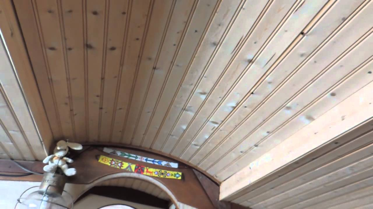 white wood ceiling ideas - Headliner in a boat Headlineing