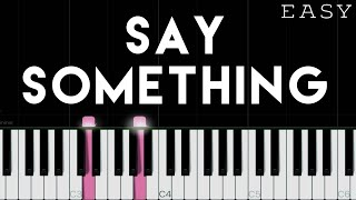 A Great Big World, Christina Aguilera - Say Something | EASY Piano Tutorial