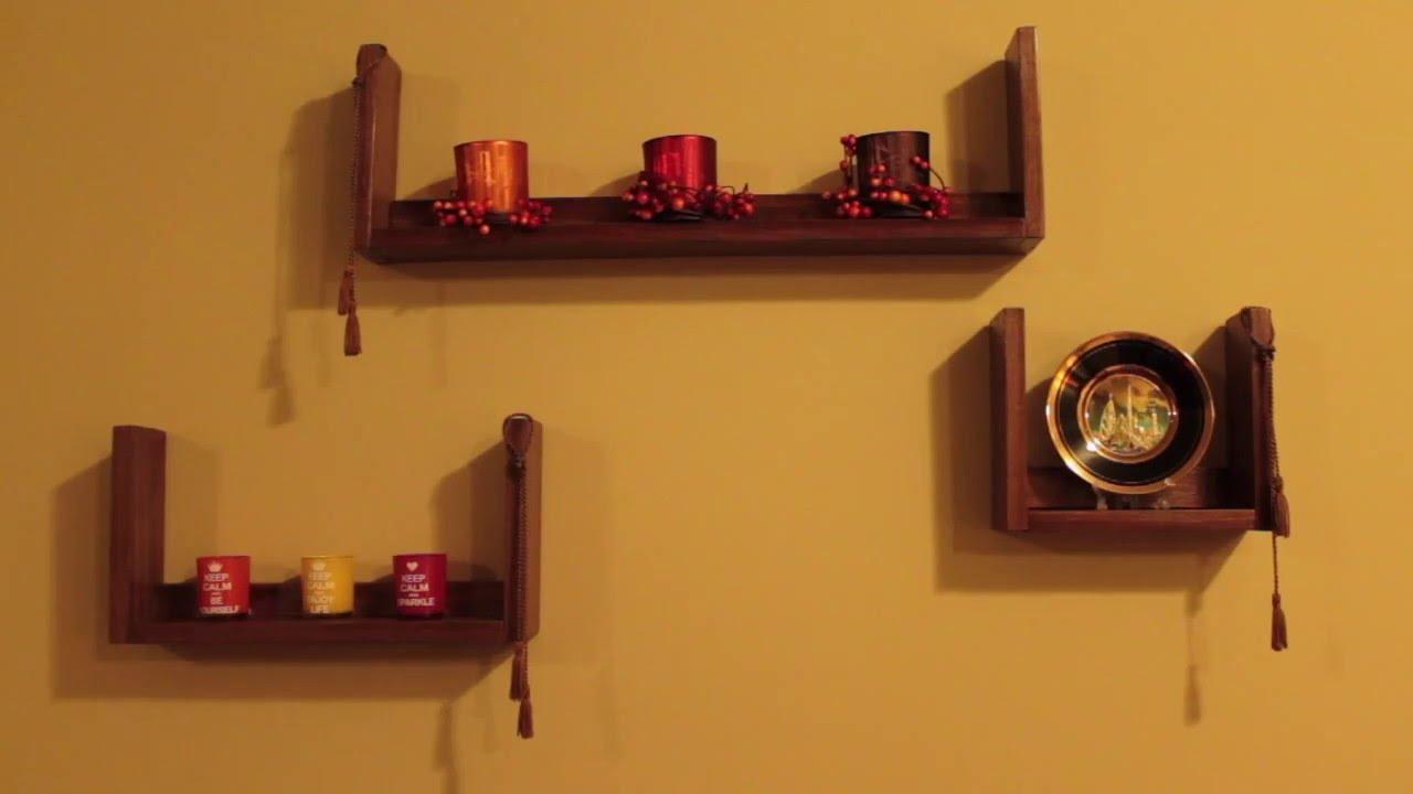U Shaped Wall Mounted Shelves
