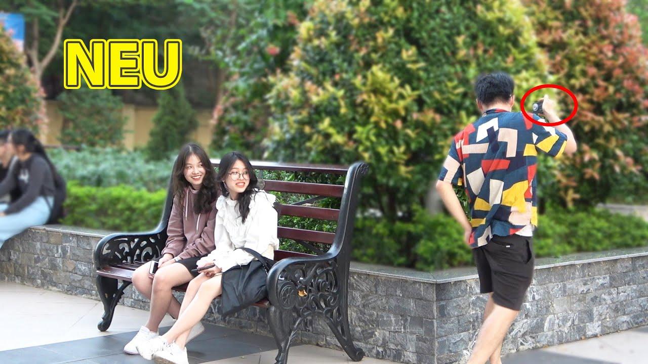 Vlogger Thật Thà nhất vũ trụ đến trường Hoa hậu Đỗ Thị Hà | Funny VLog Story Prank