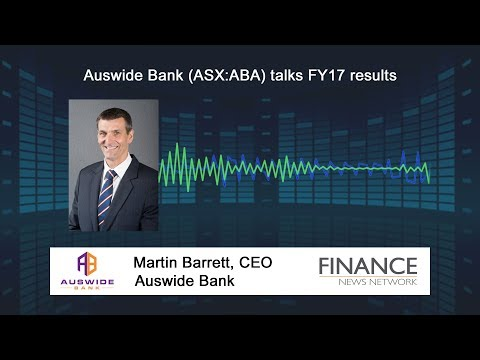 Auswide Bank (ASX:ABA) Talks FY17 Results