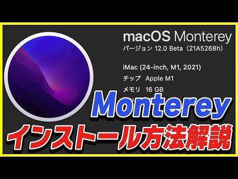 macOS Monterey 12.0のパブリックベータ版が登場!アップデート方法を解説!【無料】