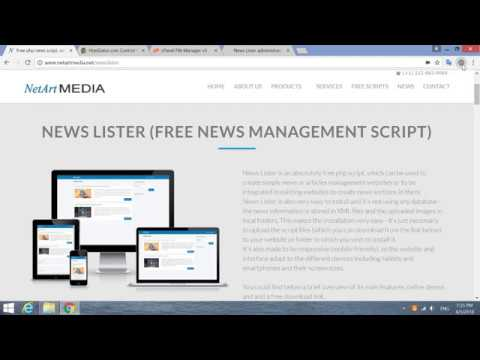 Free Php News Script Quick Installation (installing News Lister On A Website And CPanel)