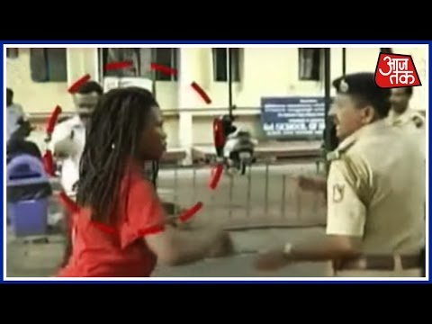 Nigerian Woman Gives Police A Hard Time In Bangalore