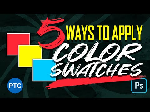 5 Unbelievably Smart Ways To Apply COLOR SWATCHES In Photoshop