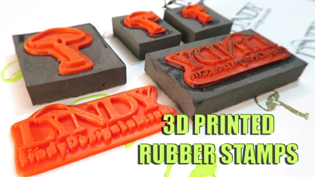Testing 3D Printed Rubber Stamps YouTube