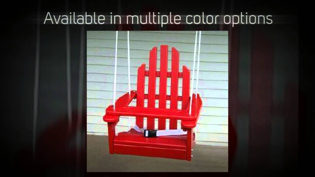 Prairie Leisure Kiddie Adirondack Swing Chair 64 Youtube