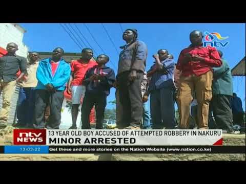 13-year-old boy accused of attempted robbery in Nakuru