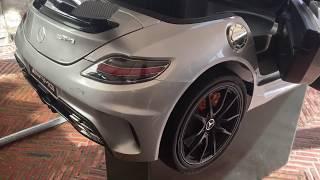Voiture enfant électrique 12 volts Mercedes SLS AMG carbon