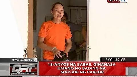 QRT: 18-anyos na babae, ginahasa umano ng bading na may-ari ng parlor