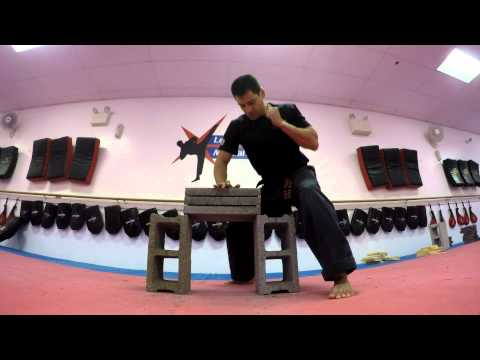 Leading Edge Martial Arts August 26, 2015 3 brick break