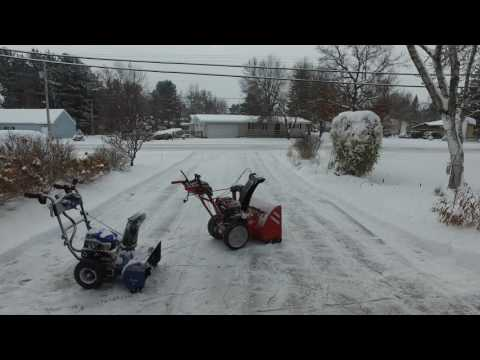 2016 Troy-Bilt Storm 2860 2-stage, 243cc, Airless Tires! Review!