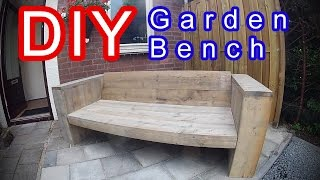 How to make your own XL wooden outdoor garden bench. Do it yourself in Time lapse Higher quality, less money!! Scaffold planks