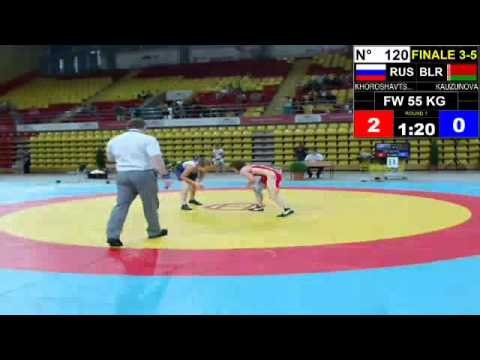 Final EJWC Skopje 2013 FW 55KG 05.07.13 3rd Place And 5th Place