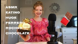 ASMR~ Eating GIANT Ferrero Rocher Chocolate �