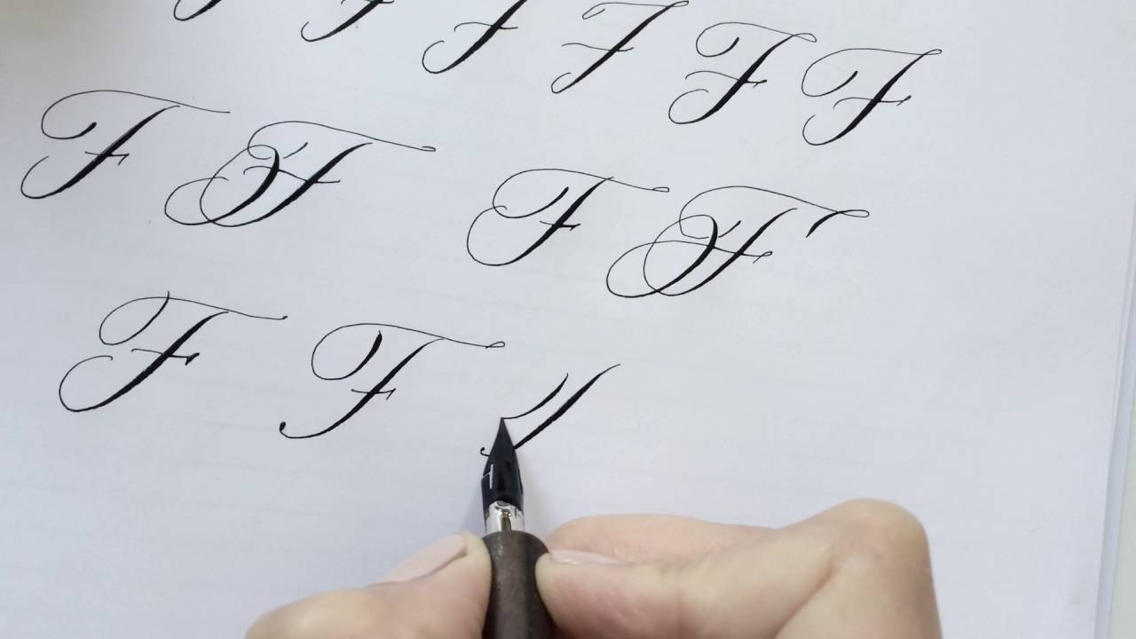 Modern calligraphy letter f youtube Calligraphy youtube
