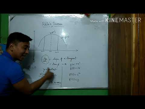 Class 12 Mathematics.Rolle's Theorem.Explained And Done Q&As Beautifully In NEPALI