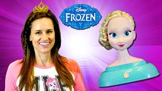 Disney Frozen Elsa Styling Head Amy Jo Wears & Shares Hair Accessories Toys by DCTC