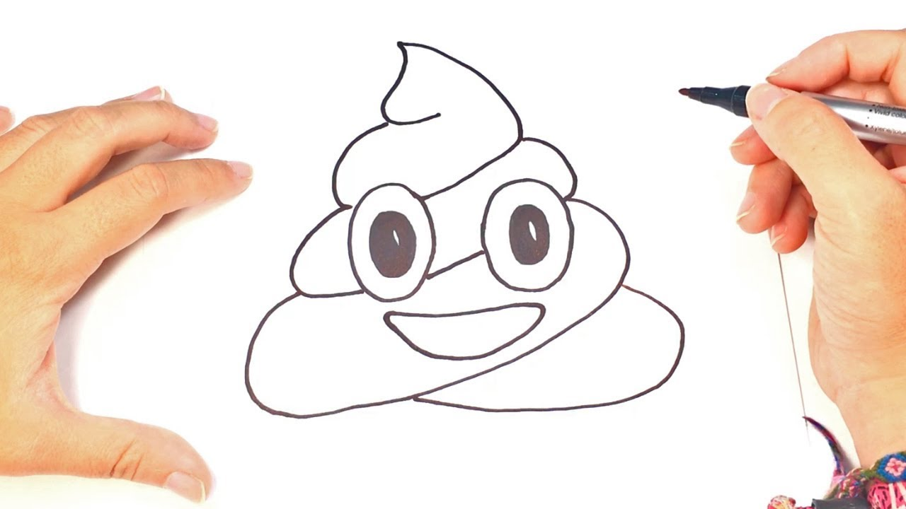 Como Dibujar Emoji Popo O Caca Whatsapp Youtube