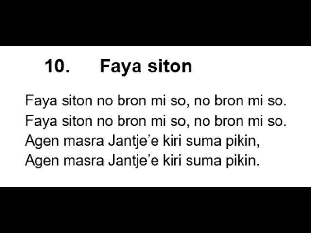 S  V  10  Faya Siton