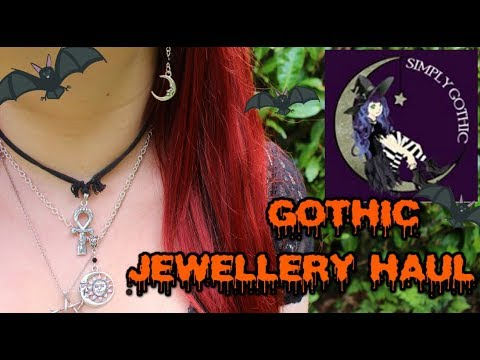 SIMPLY GOTHIC COMPANY JEWELLERY HAUL - Teeth, Moons and Skulls