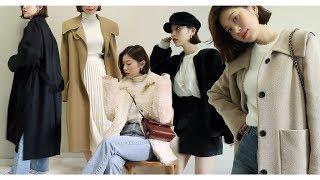 eng/jpn) Winter Lookbook & Haul / 나의 심플한 겨울 룩북과 하울