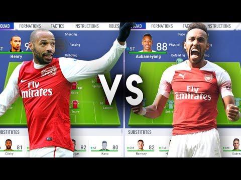 Thierry Henrys Arsenal VS Aubameyangs Arsenal - FIFA 19 Experiment