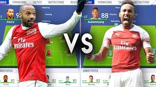 Thierry Henry's Arsenal VS Aubameyang's Arsenal - FIFA 19 Experiment