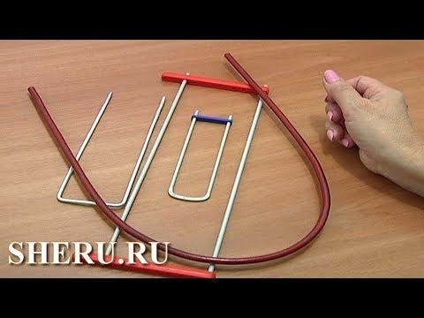 Видеоурок вязания на вилке для начинающих